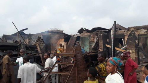Just In: Fire razes nine shops, destroys goods in Osogbo