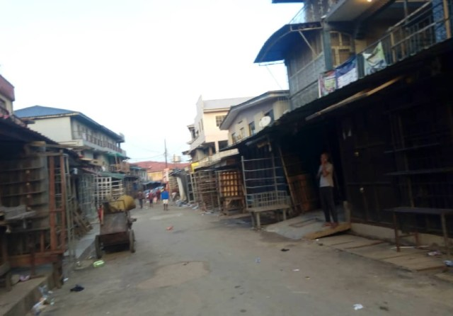 COVID-19: Textile Market, Oshodi deserted as traders adhere to directive