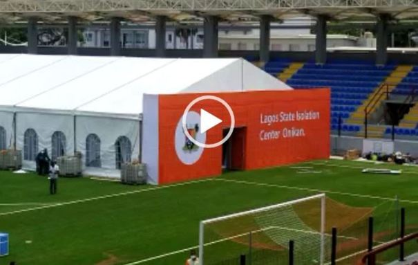 Video: Newly launched isolation centre in Lagos, Onikan Stadium