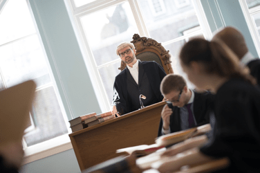 Professor Peter McEleavy teaching law at the University of Dundee.