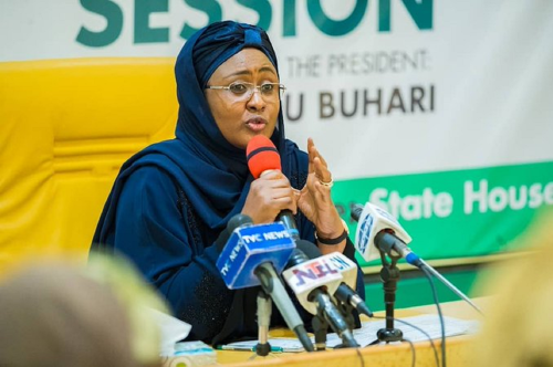 Following the easing of the lockdown by the Presidential Tasks Force, PTF, the First Lady of Nigeria, Aisha Muhammadu Buhari has expressed appreciation to the nation's health workers for their tireless contribution towards controlling the COVID-19 pandemic.