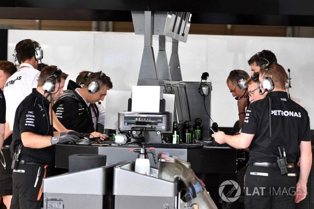 Mercedes F1 engineers