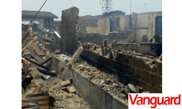 Ajah destroyed houses