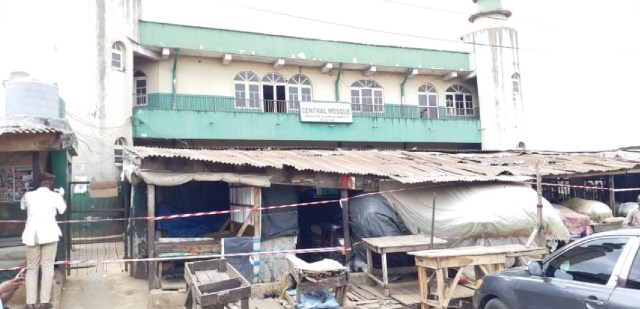 Lagos state government shuts down  Agege Central Mosque over attack on COVID-19 Taskforce (photos)