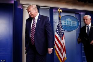 Coronavirus: Trump walks out of daily press briefing