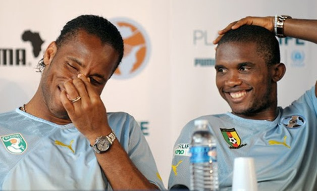 Diouf, Drogba weren't at my level ― Eto'o