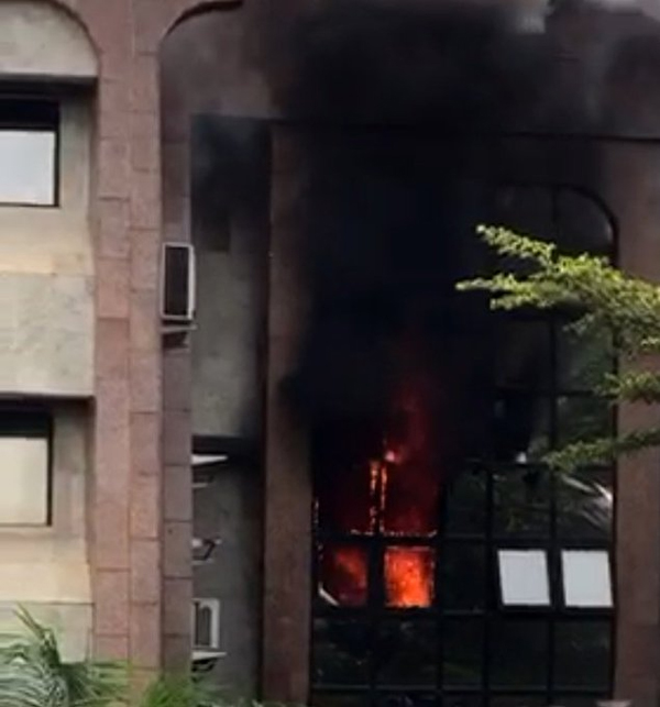 Breaking: Fire guts NIPOST headquarters Abuja