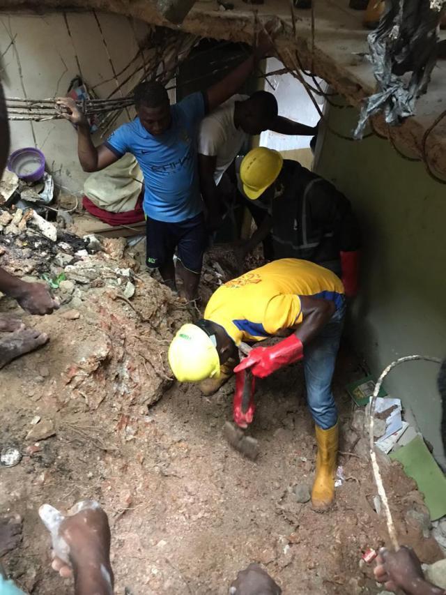 PHOTOS: Teenagers die as storey building collapses in Lagos