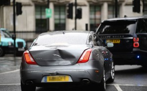 Bristish PM Boris Johnson involved in car crash