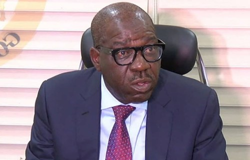 Edo governorship: Obaseki in meeting with Secondus, Wike, Tambuwal others