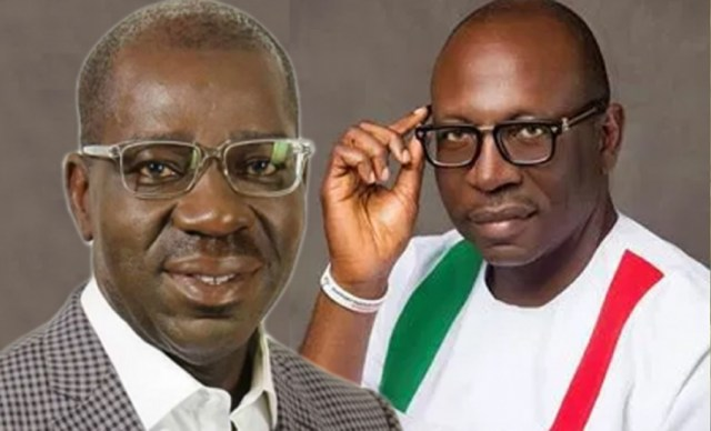 Edo 2020: Obaseki, Ize-Iyamu battle for monarch's blessings, get titles