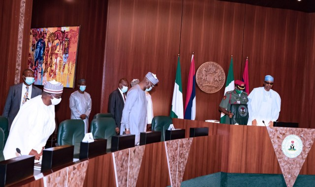 Insecurity: Buhari, Security Heads, North East Govs meet in Aso Rock