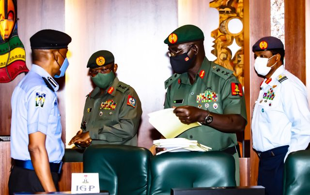 Buhari to service chiefs: How do terrorists get arms?