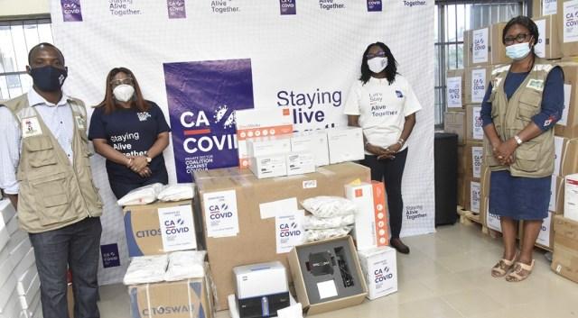 CACOVID donates N1.4bn medical equipment, 26,400 test kits to boost Covid-19 testing across Nigeria