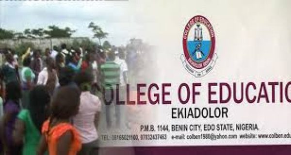 Edo College of Education workers protest 11 months unpaid salaries