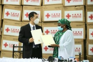 Aisha Buhari receives Medical equipment from Chinese First Lady