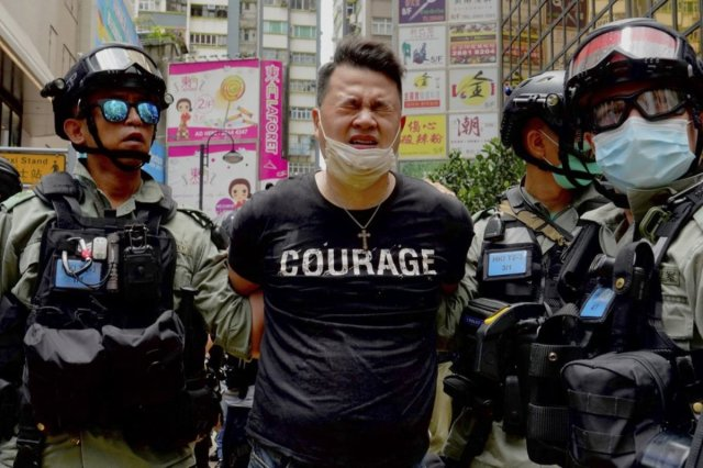 Hong Kong police make first arrest under new security law