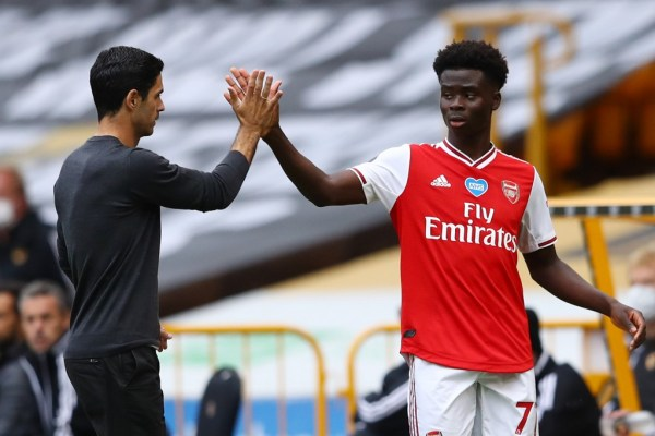 Saka's first Premier League goal keeps Arsenal in Euro race