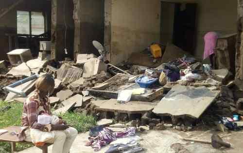Two feared dead as flood renders Oyo residents homeless