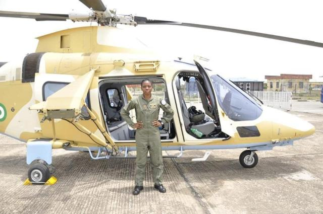 tolu 2 Photos of a late first fighter helicopter pilot in Nigeria, Tolulope Arotile in service