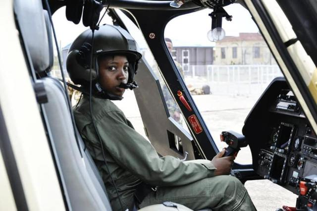 tolu 5 1 Photos of a late first fighter helicopter pilot in Nigeria, Tolulope Arotile in service