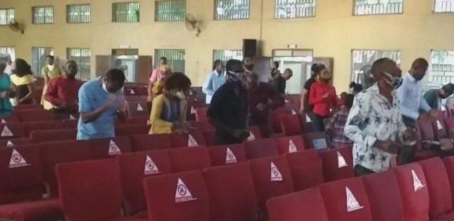 Lagos churches comply with COVID-19 guidelines, as worship resumes