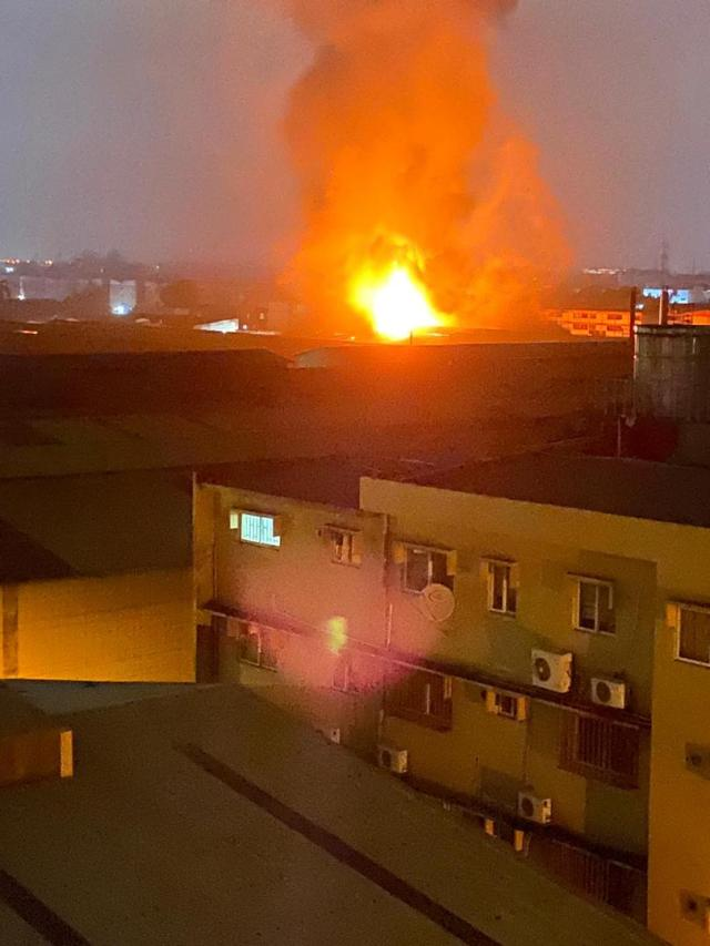 776bfcca 8764 47ae 80a6 5f3db6b17911 Fire guts Guinness warehouse in Lagos