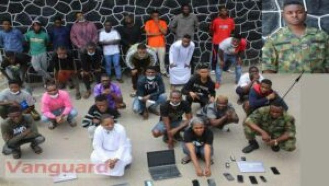 EFCC arrests soldier, 26 others for cyber fraud