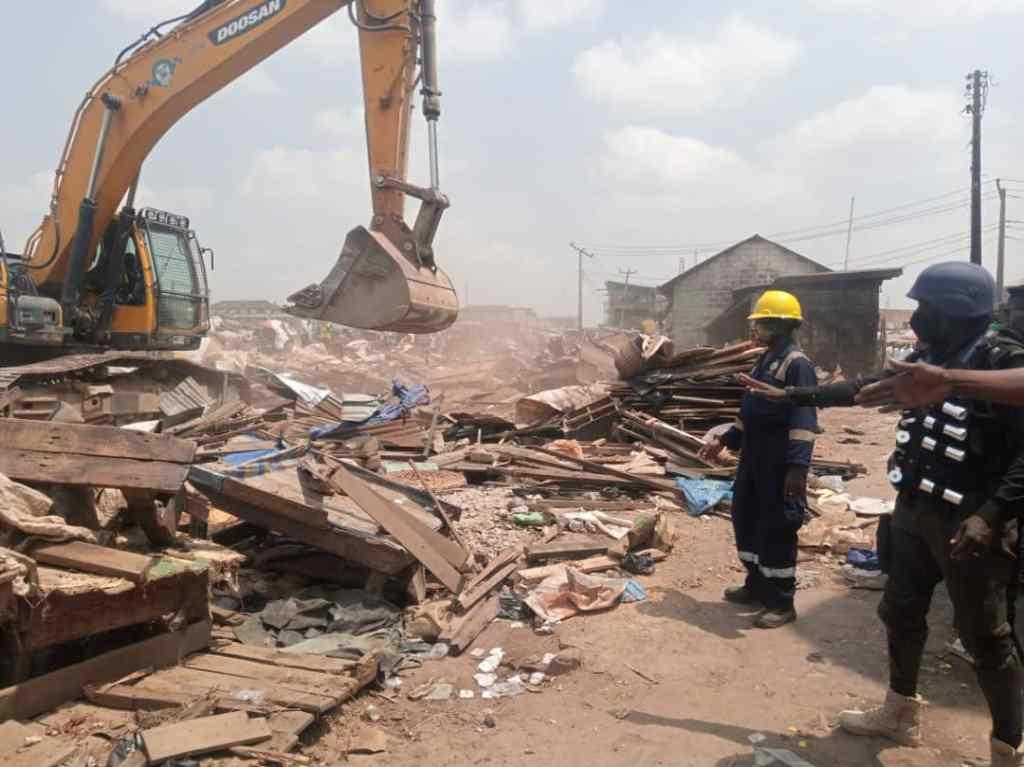 Why we demolished 150 shanties, kiosks in Agege - Lagos Taskforce