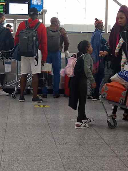 Stranded Nigerians forced to disembark from Airline, protest at Stansted Airport