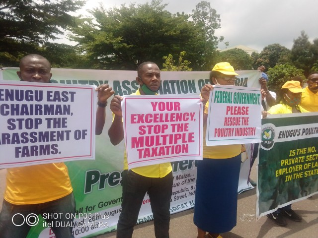 Poultry farmers protest multiple taxations, rising cost of maize