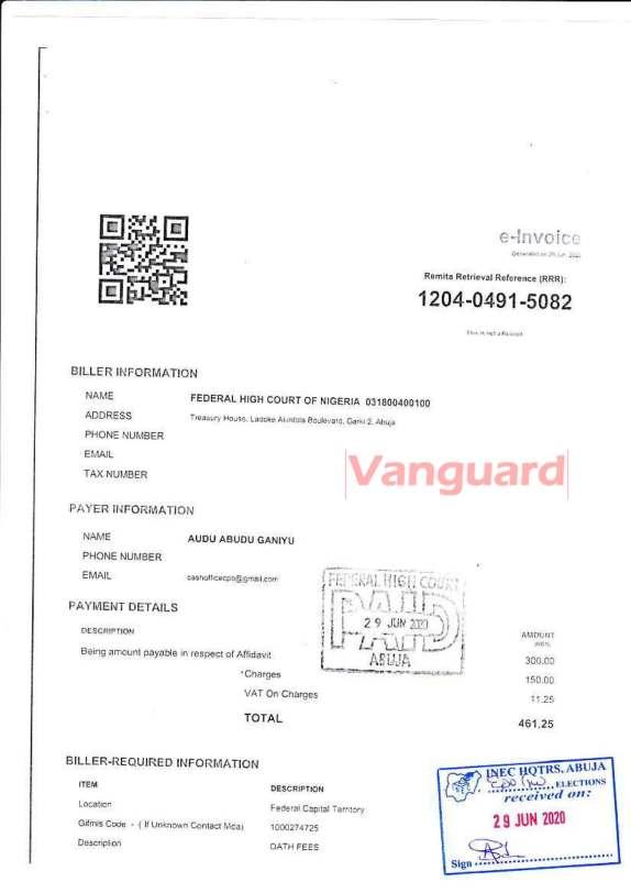 Edo 2020: ADP accuses Ize-Iyamu's running mate of certificate forgery
