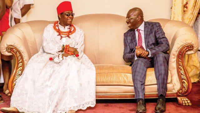 Oba of Benin congratulates Obaseki on re-election