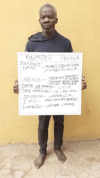 Fake pastor arrested for defiling two sisters in Ogun