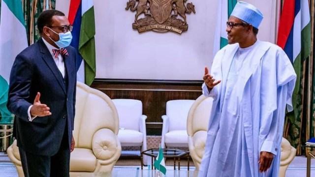 Buhari congratulates AfDB President, Akinwunmi Adesina on re-election