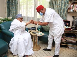 BREAKING: Orji Kalu arrives Minna to visit IBB, Abdulsalami, Niger Governor, others