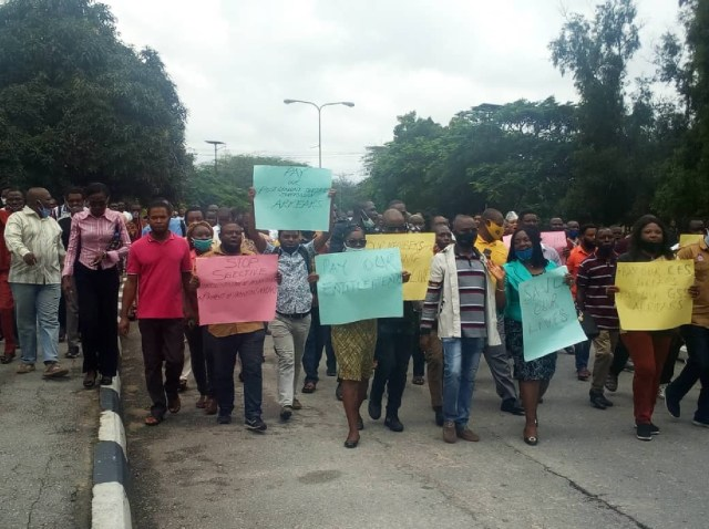 ASUU protests 6 years salary arrears entitlements in UNICAL