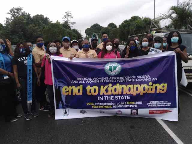 Kidnapping: Medical Women, civil society groups protest in Calabar