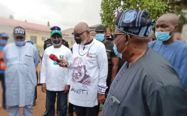 ONDO INEC FIRE: Akeredolu visits office describes fire incident unfortunate, shocking