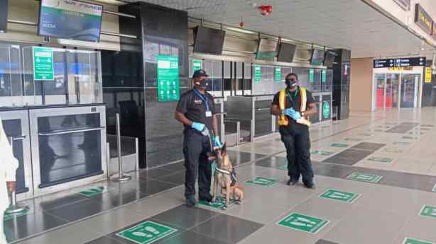 Why we only observe social distancing in airports terminals ― FG