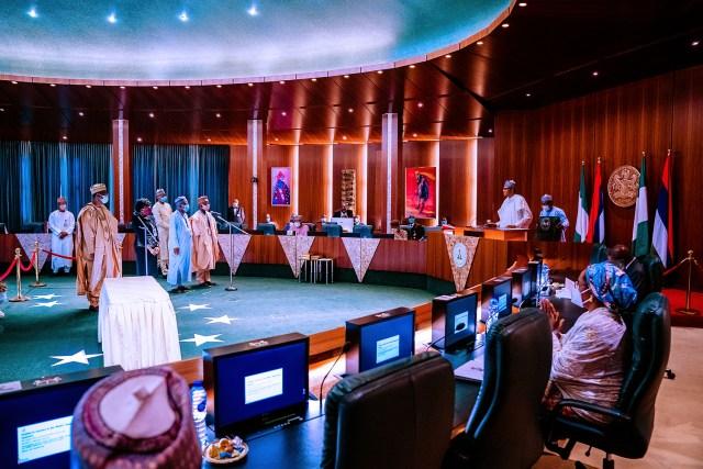 Pres. Buhari presides over a VFEC Meeting0008