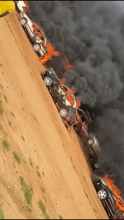 #EndSARS: Hoodlums set ablaze over 50 cars in Apo Abuja