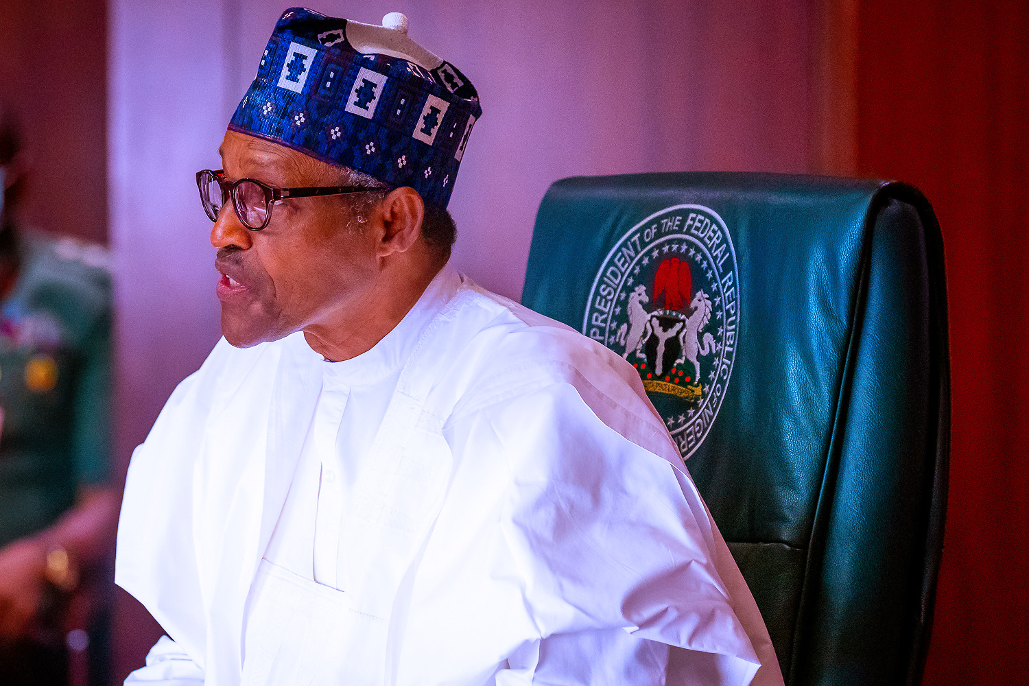 PHOTOS: Buhari in virtual meeting with former Heads of State