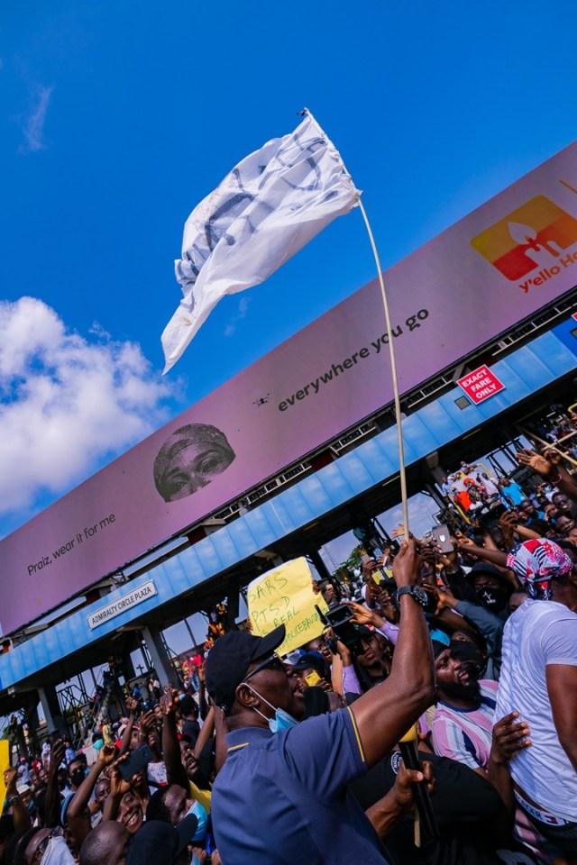 PHOTOS: Lagos governor Sanwo-Olu at #EndSARS protest