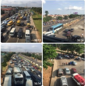 #EndSARS: Traffic report on Lagos-Ibadan Expressway (PHOTOS)