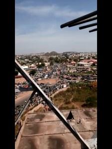 Bukuru, Jos, Plateau State, COVID-19 warehouse under siege