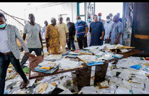 #EndSARS: Lagos Speaker, members visit facilities destroyed by hoodlums