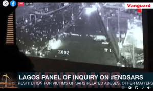 HAPPENING NOW: Lagos Panel of Inquiry views LCC CCTV footage of #EndSARS protesters