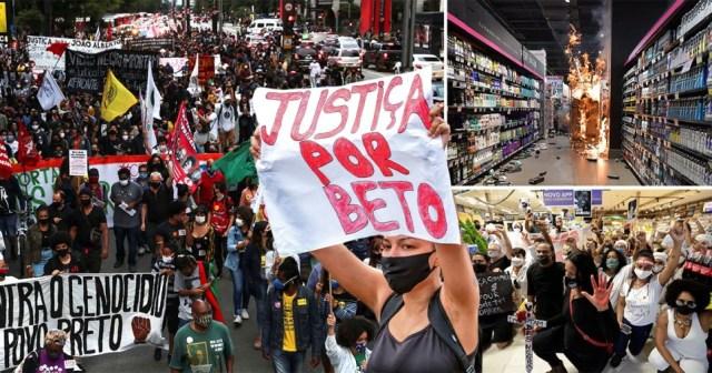 Protests in Brazil after black man killed