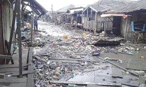 ONDO OCEAN SURGE: Over 2000 houses submerged in Ayetoro